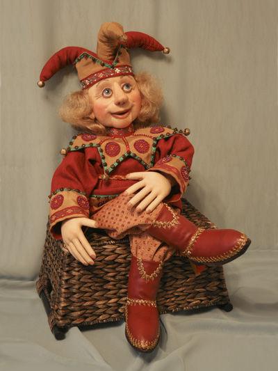Коллекционные куклы ручной работы. Ярмарка Мастеров - ручная работа. Купить Кукла Скоморох. Handmade. Авторская кукла, эксклюзив