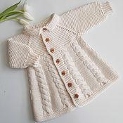 Работы для детей, handmade. Livemaster - original item Coat jacket Vanilla. Handmade.