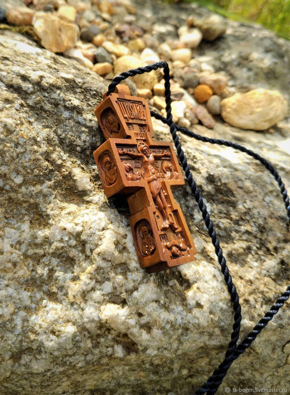 Кулоны, подвески ручной работы. Ярмарка Мастеров - ручная работа. Купить Крест с торцевой резьбой. Handmade. Крест, православный крест