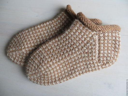 """Носки, Чулки ручной работы. Ярмарка Мастеров - ручная работа. Купить Тапочки-носки """"Карамель"""". Handmade. Вязаные спицами носки"""