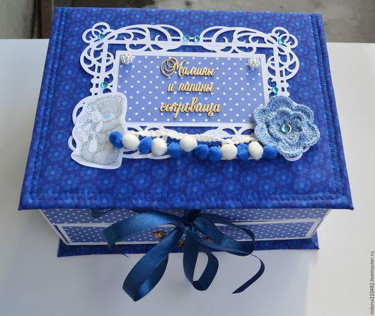 Подарки для новорожденных, ручной работы. Ярмарка Мастеров - ручная работа. Купить Мамины Сокровища для мальчика с выдвижным ящичком. Handmade.