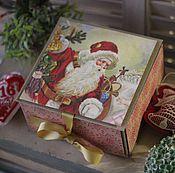 Сувениры и подарки ручной работы. Ярмарка Мастеров - ручная работа Коробочка для новогоднего подарка. Handmade.