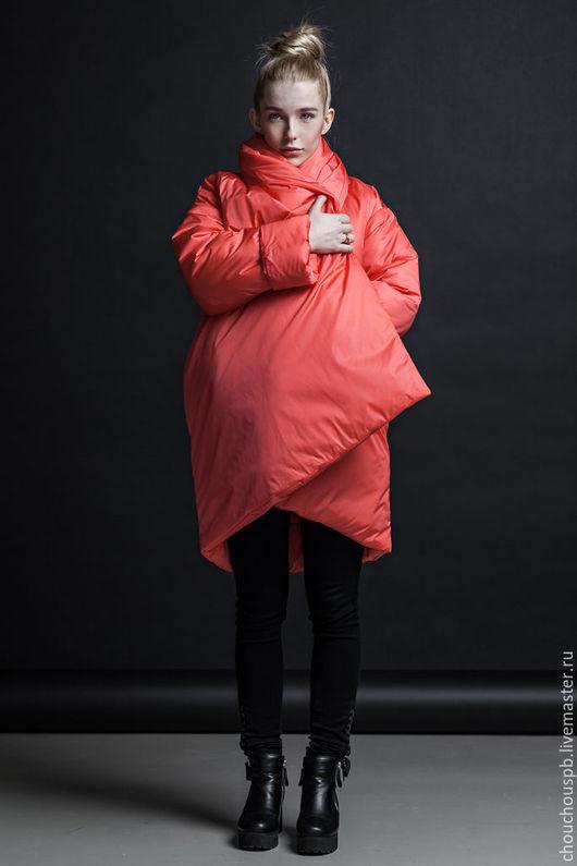 Верхняя одежда ручной работы. Ярмарка Мастеров - ручная работа. Купить Куртка PUFFER coral. Handmade. Коралловый, куртка