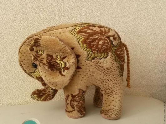 Игрушки животные, ручной работы. Ярмарка Мастеров - ручная работа. Купить интерьерная игрушка Слон. Handmade. Бежевый, мягкая игрушка