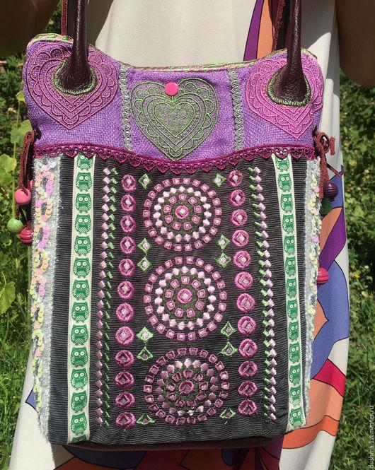 Женские сумки ручной работы. Ярмарка Мастеров - ручная работа. Купить Сумка в бохо стиле. Handmade. Комбинированный, Сумка с вышивкой