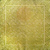 Материалы для творчества ручной работы. Ярмарка Мастеров - ручная работа Салфетка  Роскошные золотые завитки. Handmade.