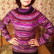 """Одежда ручной работы. Ярмарка Мастеров - ручная работа Валяный свитер """"Мармелад"""". Handmade."""