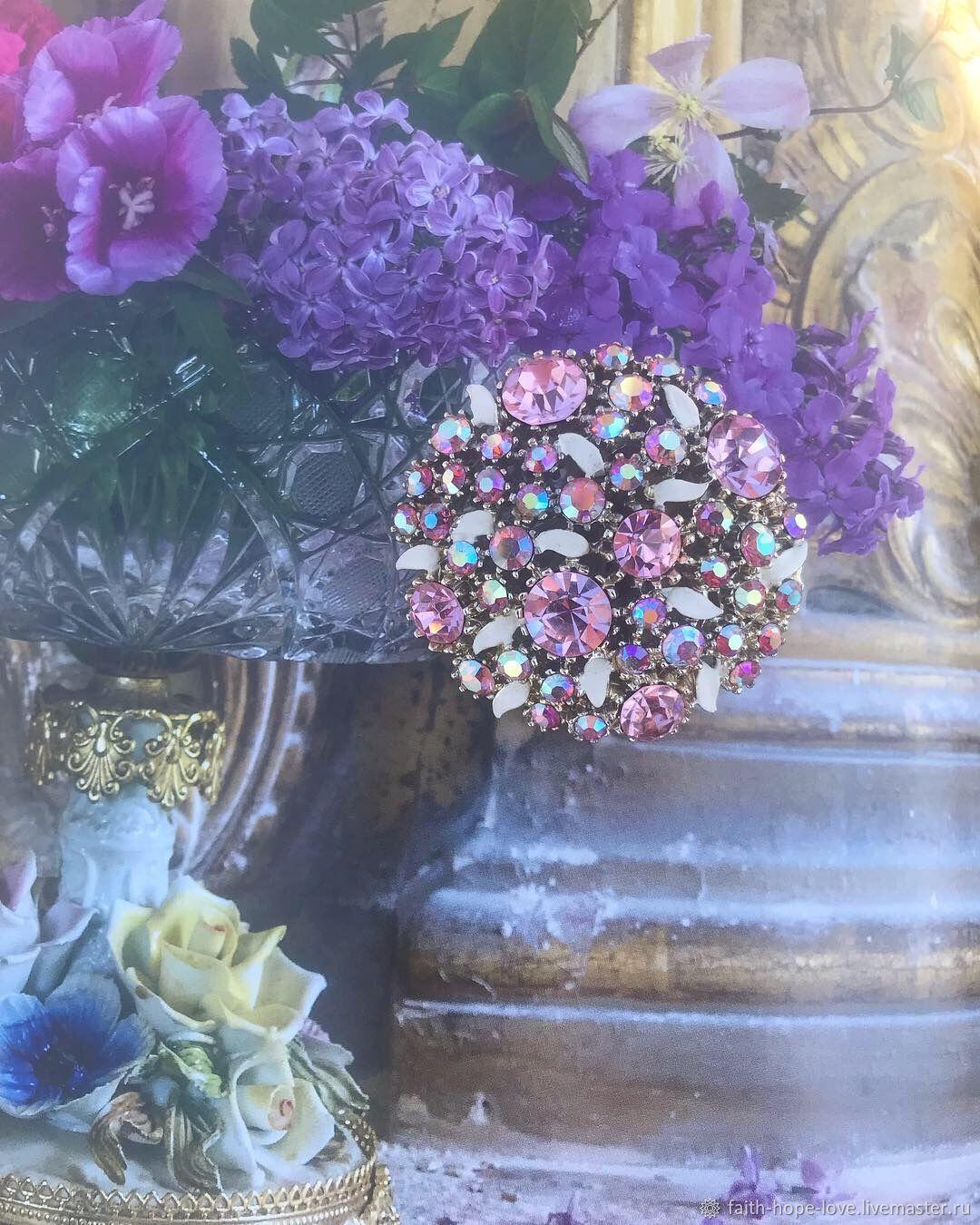 Hydrangea flowers. Spectacular brooch by Art, USA, Vintage brooches, Vladivostok,  Фото №1