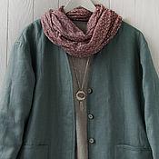 Одежда handmade. Livemaster - original item Quilted jacket-sweatshirt made of boiled linen. Handmade.