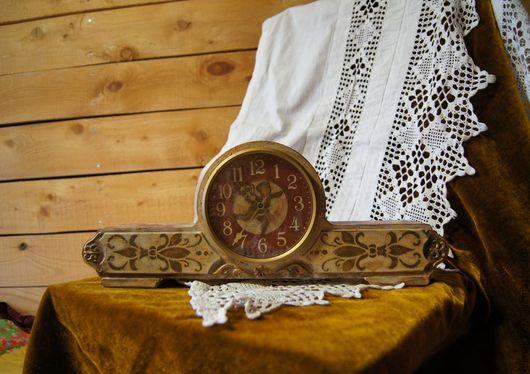 Часы для дома ручной работы. Ярмарка Мастеров - ручная работа. Купить часы механические. Handmade. Бежевый, часы интерьерные