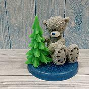 Косметика ручной работы handmade. Livemaster - original item Soap Bear with Christmas tree. Handmade.