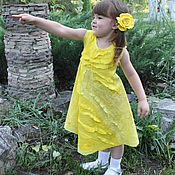 """Работы для детей, ручной работы. Ярмарка Мастеров - ручная работа Авторское платье """"Солнечный зайчик"""". Handmade."""