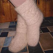High Boots handmade. Livemaster - original item Women`s knitted high boots. Handmade.