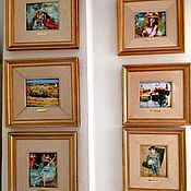 Картины и панно handmade. Livemaster - original item Pictures: Six beautiful paintings - works of famous artists. Handmade.