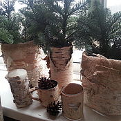 Для дома и интерьера handmade. Livemaster - original item Making birch bark rustic. Eco-decor.. Handmade.