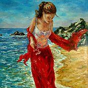 Картины и панно handmade. Livemaster - original item Oil painting of the Gentle surf. Handmade.