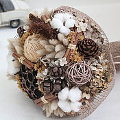 Цветы и флористика ручной работы. Ярмарка Мастеров - ручная работа Букет из сухоцветов с хлопком. Handmade.