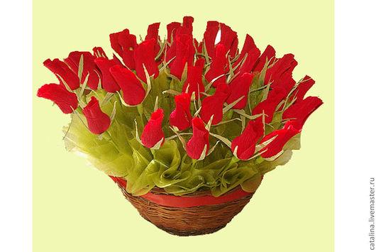 """Букеты ручной работы. Ярмарка Мастеров - ручная работа. Купить Букет из конфет """"Розы"""". Handmade. Букет из конфет, конфетный букет"""