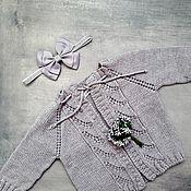 Джемперы ручной работы. Ярмарка Мастеров - ручная работа Кардиган детский из  мериноса. Handmade.