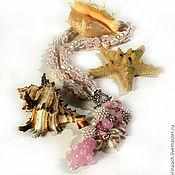 Украшения ручной работы. Ярмарка Мастеров - ручная работа Розовые сны о море. Handmade.