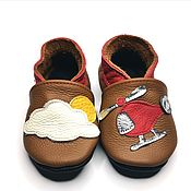 Обувь ручной работы handmade. Livemaster - original item Brown Shoes, Baby Slippers, Soft Sole Kids Shoes, Baby Booties. Handmade.