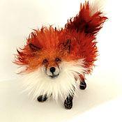 Войлочная игрушка ручной работы. Ярмарка Мастеров - ручная работа Лиса. Авторская игрушка из шерсти на каркасе. Handmade.
