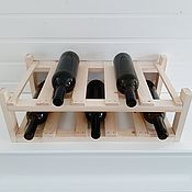 Для дома и интерьера handmade. Livemaster - original item Bunk shelf for wine and champagne under 10 bottles. Handmade.