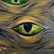 """Для дома и интерьера ручной работы. Ярмарка Мастеров - ручная работа шкатулка """"Драконьи глаза"""" ручная роспись. Handmade."""