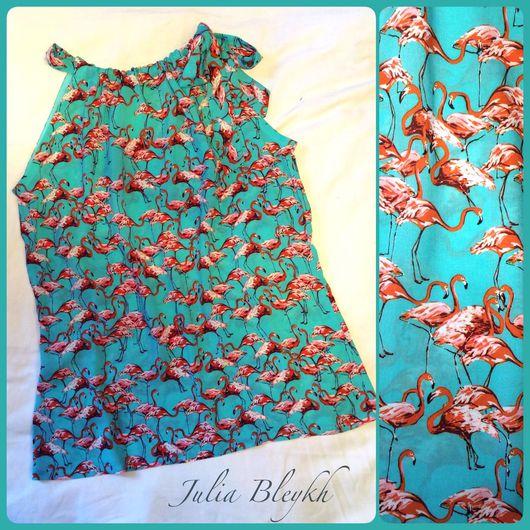 """Блузки ручной работы. Ярмарка Мастеров - ручная работа. Купить Блузка из штапеля с американской проймой """"Лаура"""". Handmade. Блузка из штапеля"""