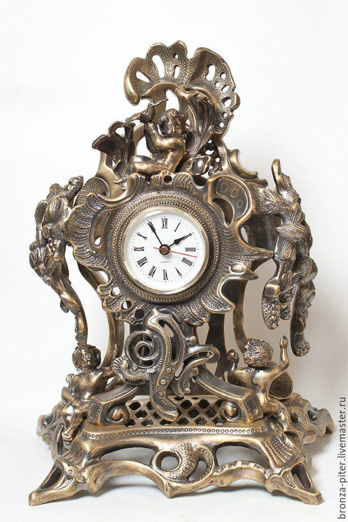 Watch bronze 'Rococo', Watch, St. Petersburg,  Фото №1