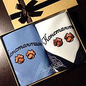 handmade. Livemaster - original item Handkerchief men`s