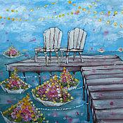 Картины и панно ручной работы. Ярмарка Мастеров - ручная работа Цветы у моря : ). Handmade.