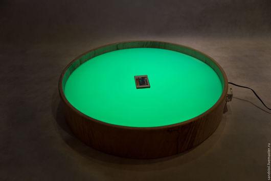 Развивающие игрушки ручной работы. Ярмарка Мастеров - ручная работа. Купить Круглый стол для рисования песком с цветной подстветкой. Handmade.