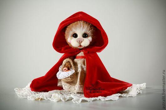"""Мишки Тедди ручной работы. Ярмарка Мастеров - ручная работа. Купить Коллекция """"Вязанная сказка"""". Handmade. Ярко-красный"""