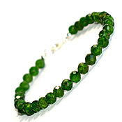 Украшения handmade. Livemaster - original item 925 sterling silver PR. Green women`s bracelet Yakut emerald chrome diopside. Handmade.
