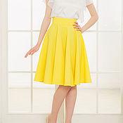 Одежда ручной работы. Ярмарка Мастеров - ручная работа Желтая юбка-солнце. Практичная юбка. Handmade.