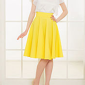Одежда ручной работы. Ярмарка Мастеров - ручная работа Желтая юбка-солнце.Старая цена 4700. Handmade.