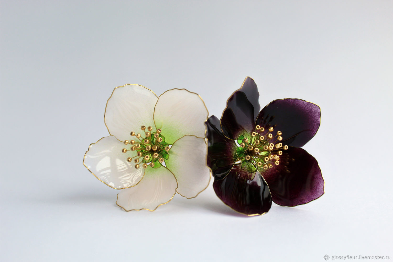 Hairpins black and white hellebore, Hairpin, Cheboksary,  Фото №1