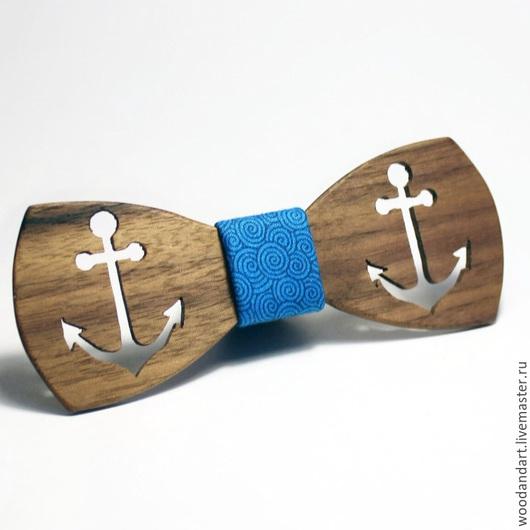 Галстуки, бабочки ручной работы. Ярмарка Мастеров - ручная работа. Купить Деревянная галстук- бабочка. Handmade. Синий, деревянная бабочка