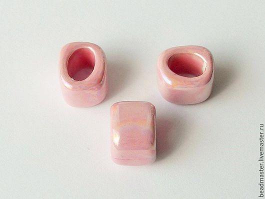 Для украшений ручной работы. Ярмарка Мастеров - ручная работа. Купить Бусина керамическая Регализ (БКР62). Handmade. Розовый, регализ