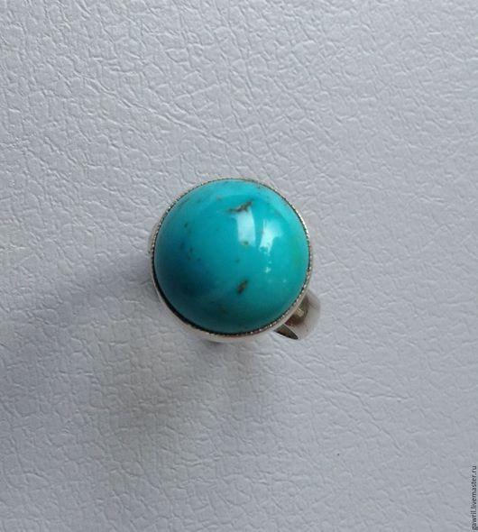 Кольца ручной работы. Ярмарка Мастеров - ручная работа. Купить Кольцо с бирюзой. Handmade. Бирюзовый, натуральный камень