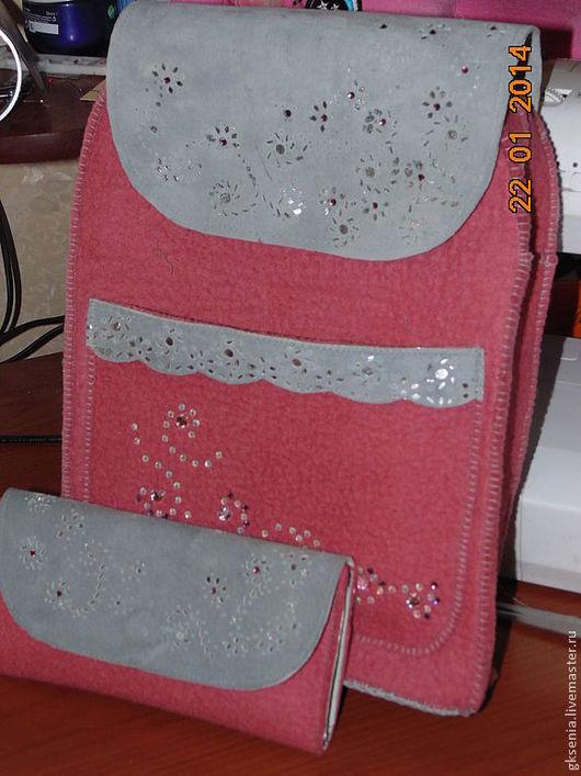 Рюкзаки ручной работы. Ярмарка Мастеров - ручная работа. Купить Рюкзак. Handmade. Розовый, валяние из шерсти, натуральная кожа