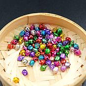 Материалы для творчества ручной работы. Ярмарка Мастеров - ручная работа бубенчики разноцветные 6 мм. Handmade.