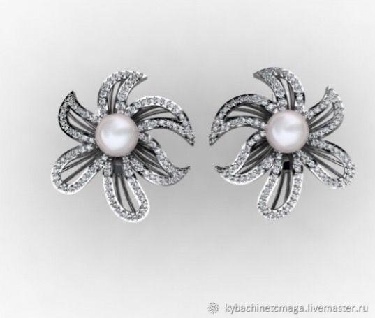 Earrings 'Medusa' silver. Kubachi, Earrings, Moscow,  Фото №1