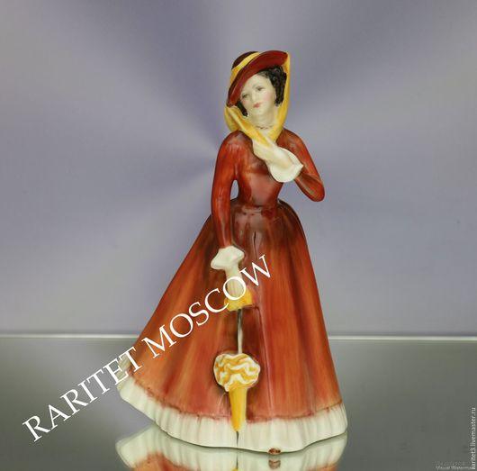 Винтажные предметы интерьера. Ярмарка Мастеров - ручная работа. Купить Девушка зонт Julia Royal Doulton Англия 53. Handmade.