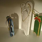 Для дома и интерьера ручной работы. Ярмарка Мастеров - ручная работа Санки-саночки.... Handmade.