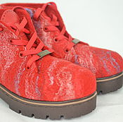 """Обувь ручной работы. Ярмарка Мастеров - ручная работа Ботинки валяные женские """"Лёд и пламя"""". Handmade."""