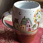"""Посуда ручной работы. Ярмарка Мастеров - ручная работа кружка """"Весёлый город N"""". Handmade."""