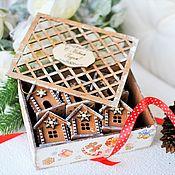Подарки к праздникам handmade. Livemaster - original item A set of houses from the collection of