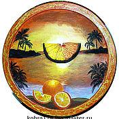 """Картины и панно ручной работы. Ярмарка Мастеров - ручная работа Панно настенное """"Апельсиновый рай"""". Handmade."""